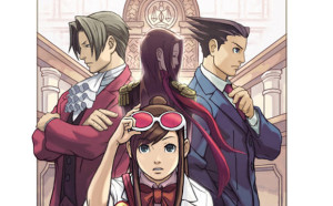 Phoenix Wright and Miles Edgeworth, along with Ema and Lana Skye